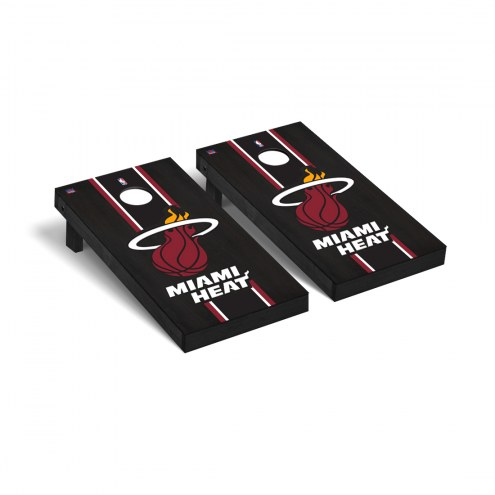 Miami Heat Onyx Stained Cornhole Game Set
