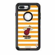 Miami Heat OtterBox iPhone 8 Plus/7 Plus Defender Stripes Case