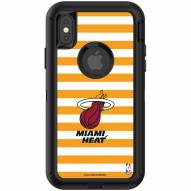 Miami Heat OtterBox iPhone X/Xs Defender Stripes Case
