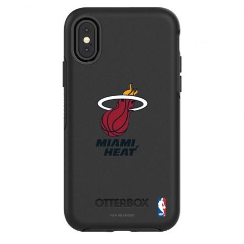 Miami Heat OtterBox iPhone X/Xs Symmetry Black Case