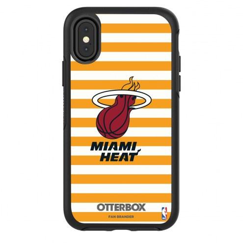 Miami Heat OtterBox iPhone X/Xs Symmetry Stripes Case