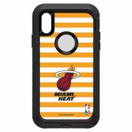 Miami Heat OtterBox iPhone XR Defender Stripes Case
