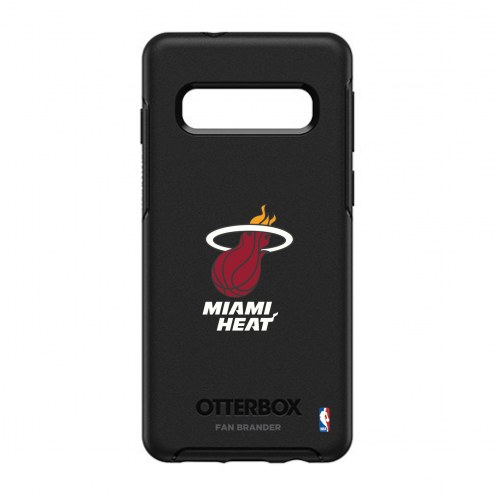 Miami Heat OtterBox Samsung Galaxy S10 Symmetry Black Case