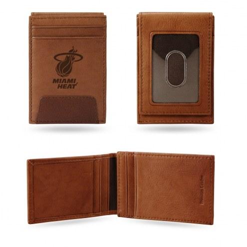 Miami Heat Premium Leather Front Pocket Wallet