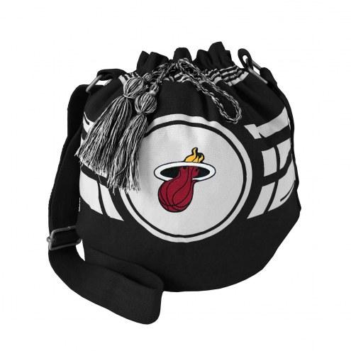 Miami Heat Ripple Drawstring Bucket Bag