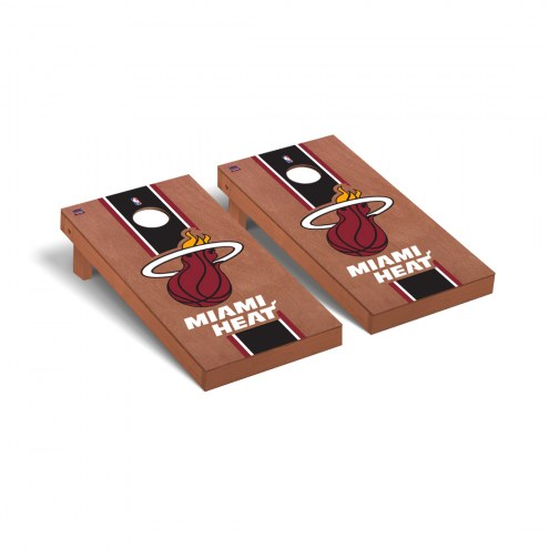 Miami Heat Rosewood Stained Cornhole Game Set
