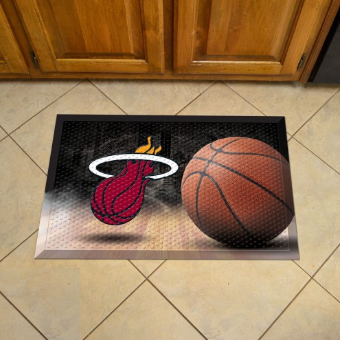 Miami Heat Scraper Door Mat