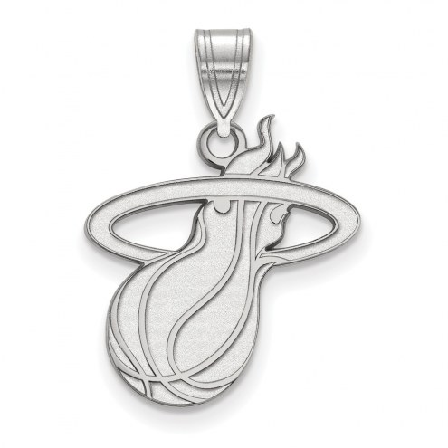 Miami Heat Sterling Silver Large Pendant