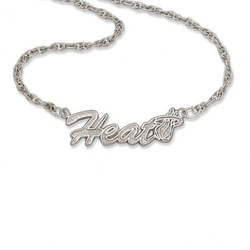 Miami Heat Sterling Silver Script Necklace
