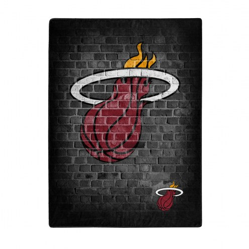 Miami Heat Street Raschel Throw Blanket