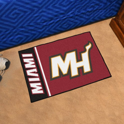 Miami Heat Uniform Inspired Starter Rug