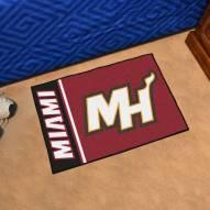 Miami Heat Uniform Inspired Starter Rug