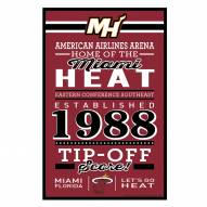 Miami Heat Established Wood Sign