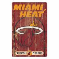 Miami Heat Slogan Wood Sign