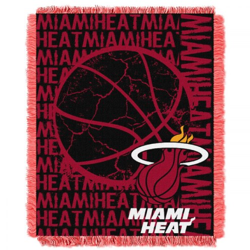 Miami Heat Woven Jacquard Throw Blanket