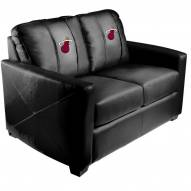 Miami Heat XZipit Silver Loveseat