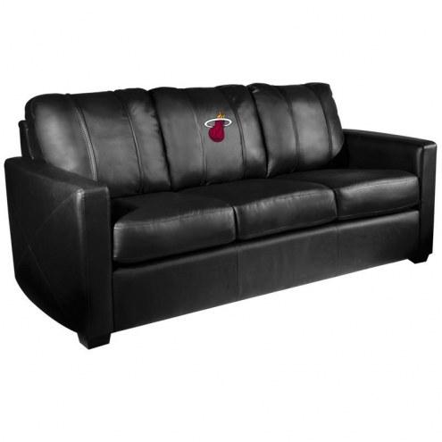 Miami Heat XZipit Silver Sofa