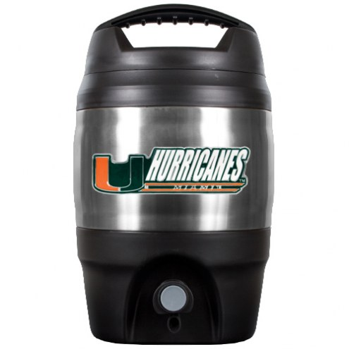 Miami Hurricanes 1 Gallon Beverage Dispenser