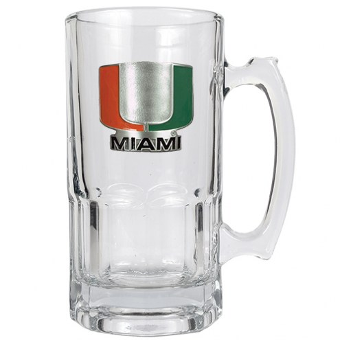 Miami Hurricanes College 1 Liter Glass Macho Mug