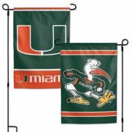 """Miami Hurricanes 11"""" x 15"""" Garden Flag"""