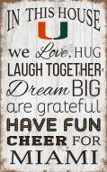 "Miami Hurricanes 11"" x 19"" In This House Sign"