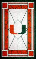 "Miami Hurricanes 11"" x 19"" Stained Glass Sign"