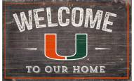 "Miami Hurricanes 11"" x 19"" Welcome to Our Home Sign"