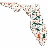 "Miami Hurricanes 12"" Floral State Sign"