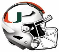 "Miami Hurricanes 12"" Helmet Sign"