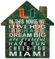 "Miami Hurricanes 12"" House Sign"