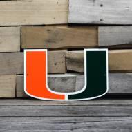 "Miami Hurricanes 12"" Steel Logo Sign"