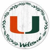 "Miami Hurricanes 12"" Welcome Circle Sign"