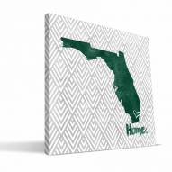 "Miami Hurricanes 12"" x 12"" Home Canvas Print"