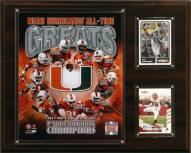"""Miami Hurricanes 12"""" x 15"""" All-Time Greats Photo Plaque"""