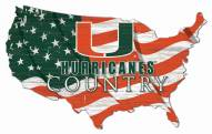 "Miami Hurricanes 15"" USA Flag Cutout Sign"