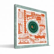 "Miami Hurricanes 16"" x 16"" Pictograph Canvas Print"