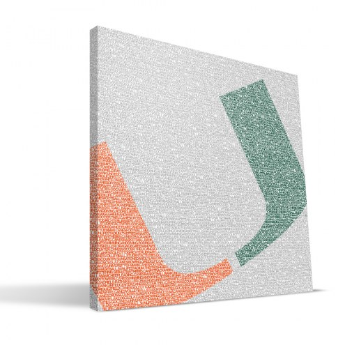 "Miami Hurricanes 16"" x 16"" Typo Canvas Print"