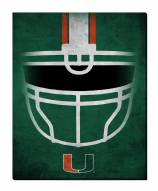 "Miami Hurricanes 16"" x 20"" Ghost Helmet Canvas Print"