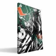 "Miami Hurricanes 16"" x 24"" Spirit Canvas Print"