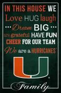 "Miami Hurricanes 17"" x 26"" In This House Sign"