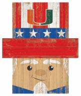 "Miami Hurricanes 19"" x 16"" Patriotic Head"