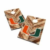 Miami Hurricanes 2' x 3' Cornhole Bag Toss