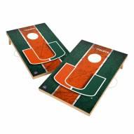 Miami Hurricanes 2' x 3' Vintage Wood Cornhole Game