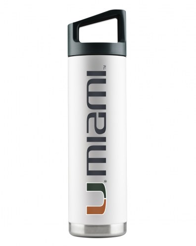 Miami Hurricanes 22 oz. Stainless Steel Powder Coated Water Bottle