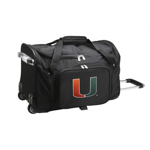 "Miami Hurricanes 22"" Rolling Duffle Bag"