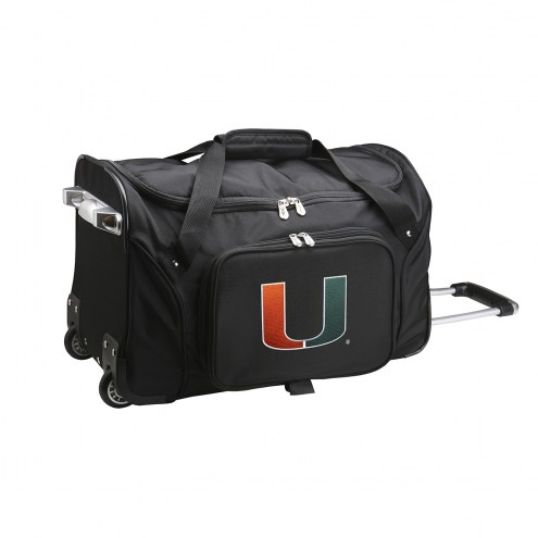 "Miami Hurricanes 22"" Rolling Duffle Bag"