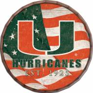 "Miami Hurricanes 24"" Flag Barrel Top"