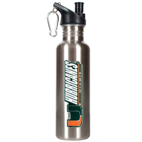 Miami Hurricanes 26 oz. Stainless Steel Water Bottle