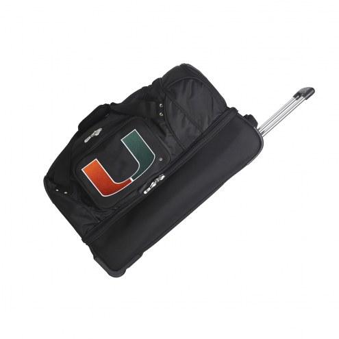 "Miami Hurricanes 27"" Drop Bottom Wheeled Duffle Bag"