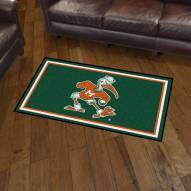 Miami Hurricanes 3' x 5' Area Rug